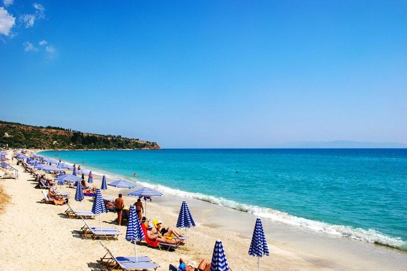 Lourdas Beach, em Cefalônia