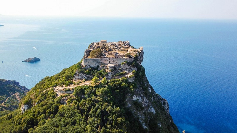 Castelo Angelokastro em Corfu