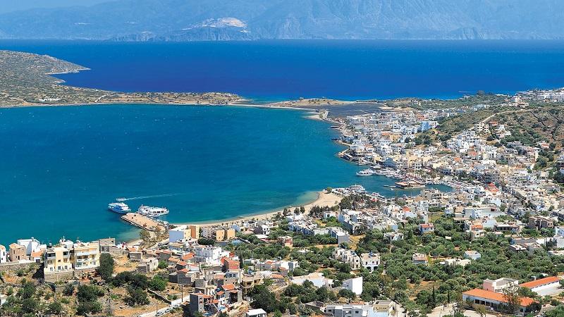 Vista aérea de Creta