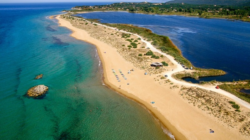 Lago Korission em Corfu