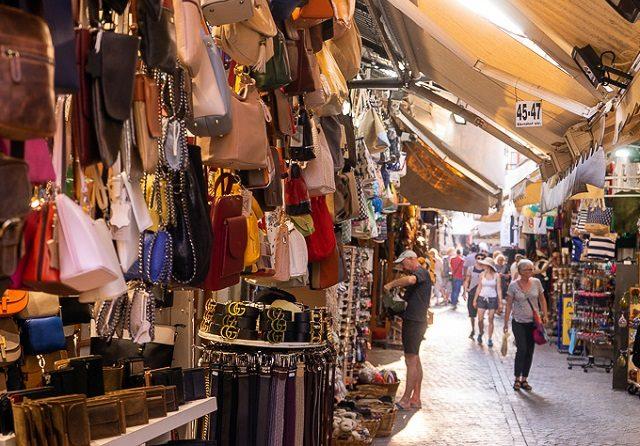 Compras em Creta