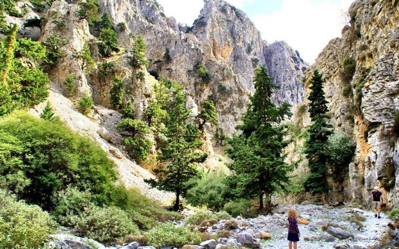 Imbros Gorge, em Creta