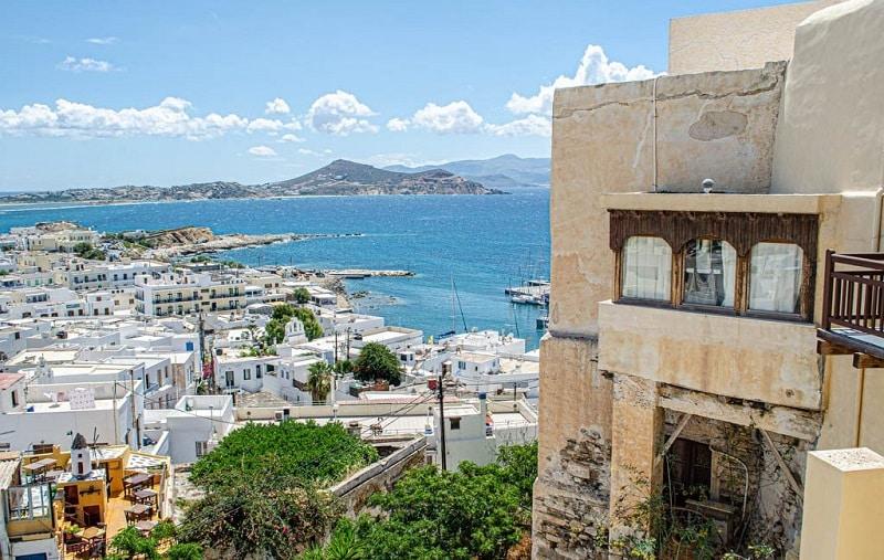 Vista de Naxos, na Grécia
