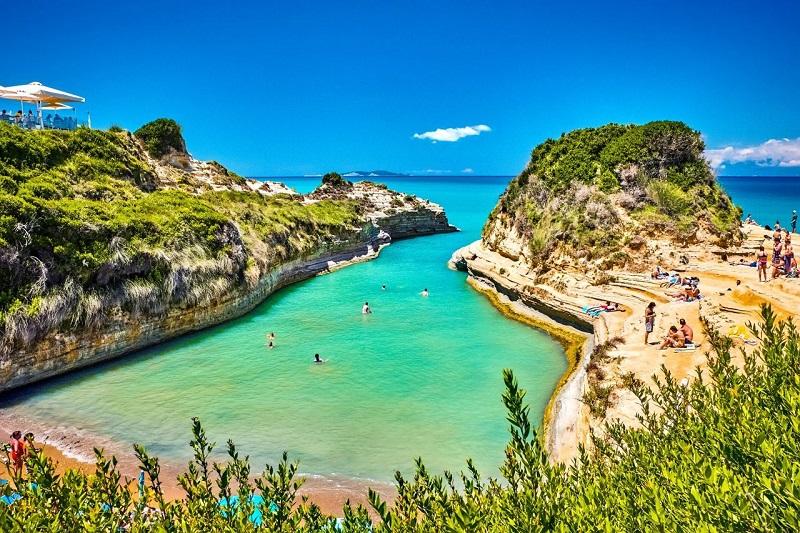 Canal d'Amour em Corfu