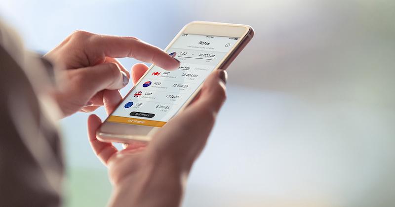 Moedas para transferência online de dinheiro via celular