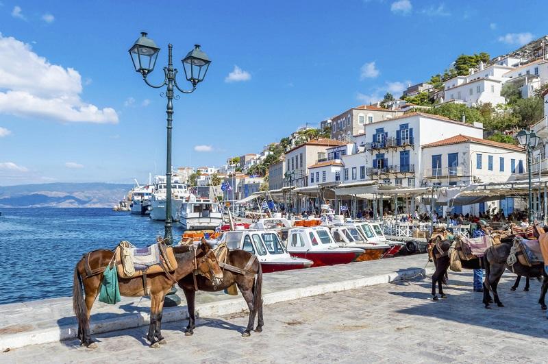 Passeio pelas ilhas da Grécia