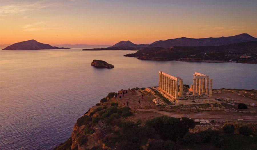 Vista para o Mar do Templo de Poseidon