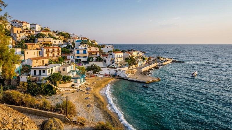 Casas na Ilha de Ikaria