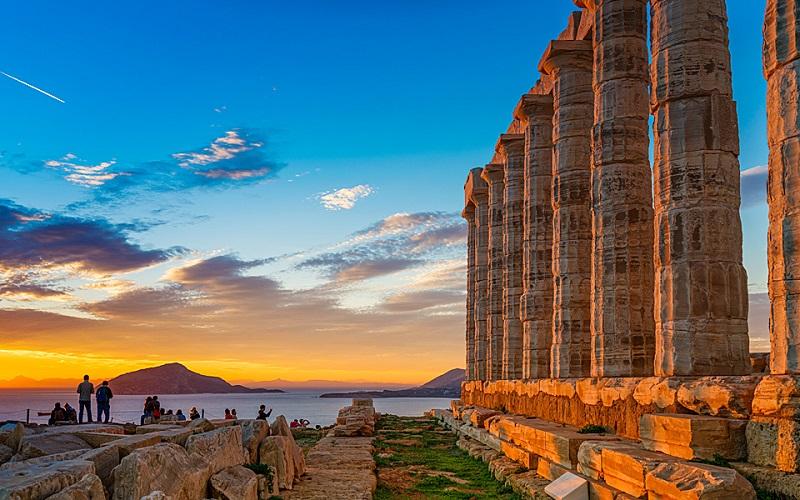 Templo de Poseidon na Grécia