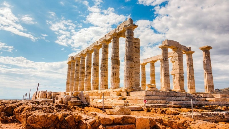Passeio por Cabo de Sounion na Grécia