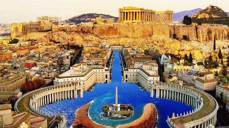 Vista da velha Atenas