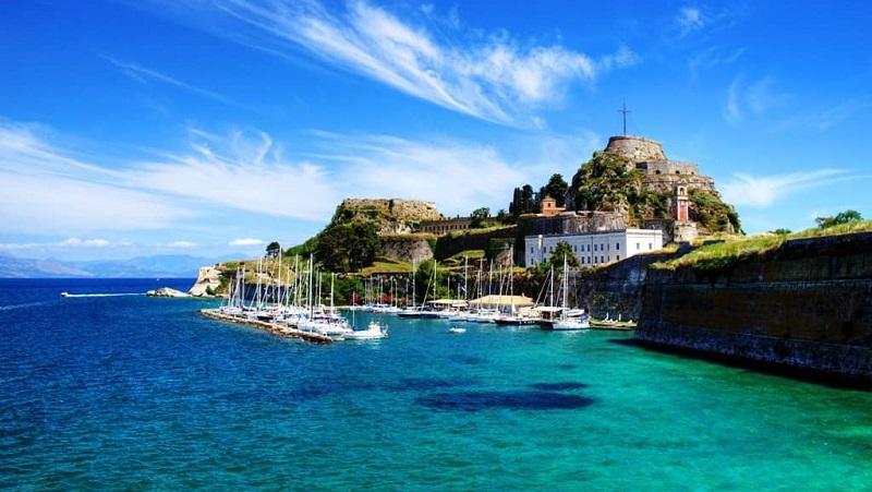 Mar na Ilha de Corfu