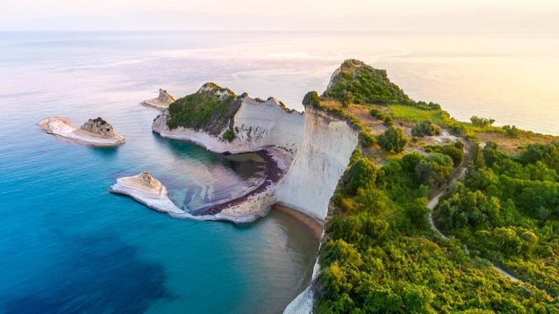 Vista aérea de Corfu, na Grécia