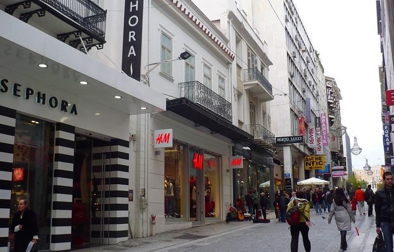 O que fazer no bairro de Syntagma: Rua Ermou em Atenas
