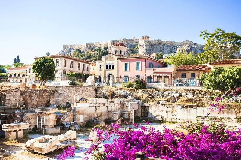 Bairro de Plaka em Atenas