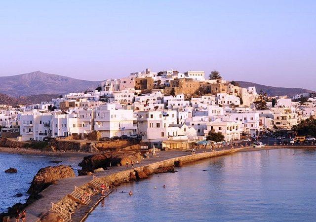 Pontos turísticos em Naxos na Grécia
