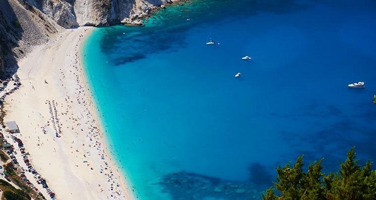 Pontos turísticos em Cefalônia na Grécia