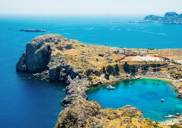 Pontos turísticos em Rodes na Grécia